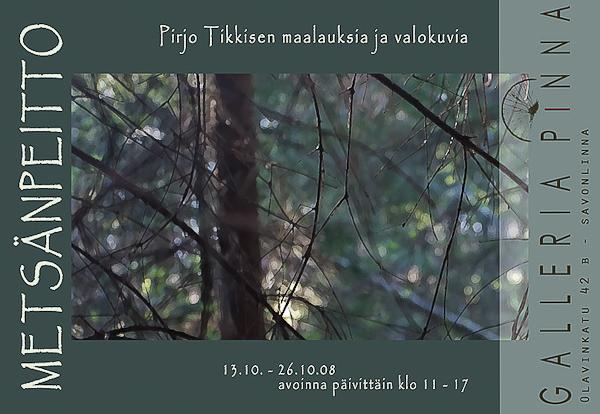 Näyttelyjuliste Galleria Pinna 2008