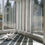 Löysin linnun, installaatio, posliinipaperisavi, lasimurska, rakukeramiikka, 2012