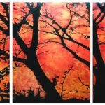 Puu, 3x60x80cm, öljyväri paperille, 2011