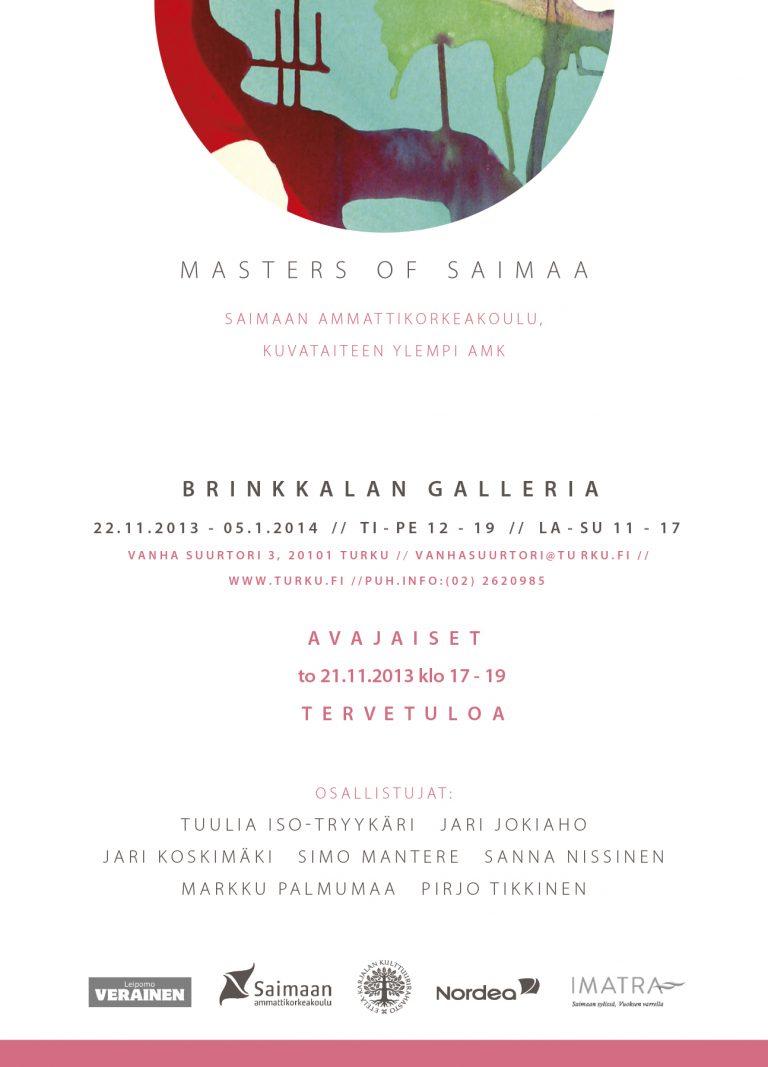 Kutsu Brinkkalan Galleria, Masters of Saimaa