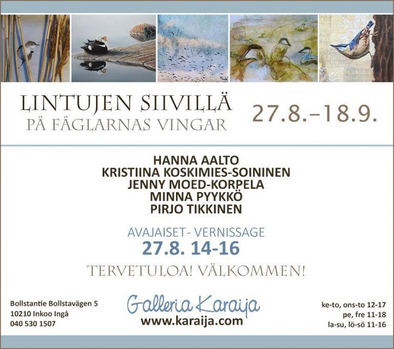 Galleria Karaija/Lintujen siivillä -kutsu