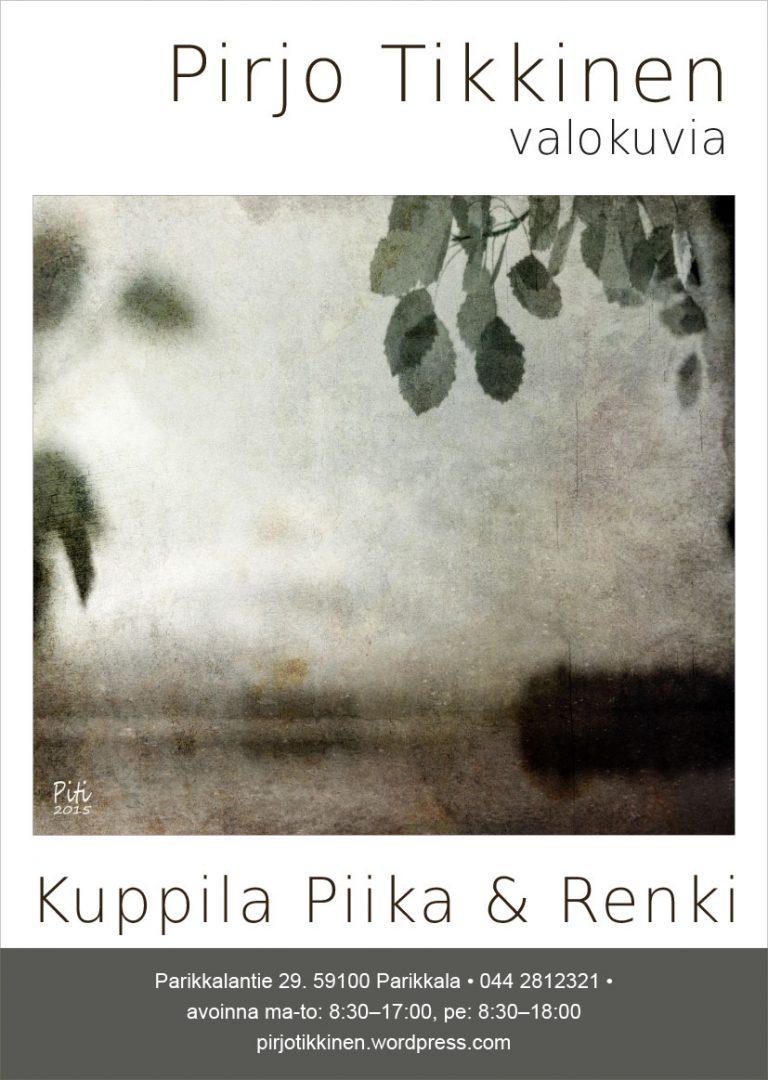 Näyttelyjuliste Kuppila Piika & Renki